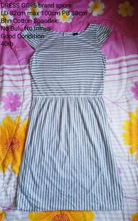 GG<5 Grey Stripes Dress