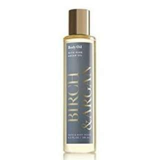 Bath and Body Works Birch and Argan Body Oil