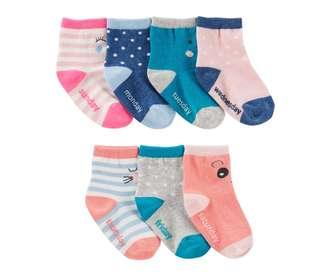 *3-12M* Brand New Oshkosh 7 Pack Socks for baby girl