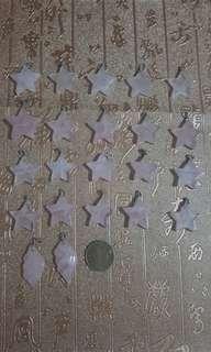 天然粉水晶吊咀,一手20個星型送2個貝殼型粉水晶,$350。