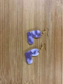 Marble hearts earrings