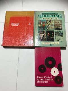 $1.90 Each, Fundamentals of management accounting, Fundamentals of marketing, linear control system analysis and design