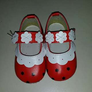 BeBe red baby shoes