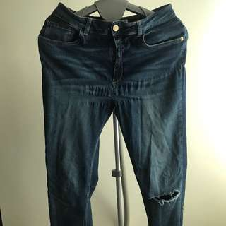 Zara Distressed High Waist Jeans
