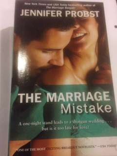 The Marriage Mistake by Jennifer Probst - a one night stand leads to a shotgun wedding .....but us it too late for love?