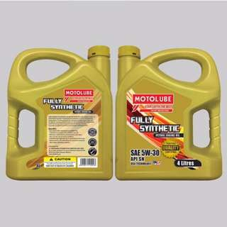 MOTOLUBE Engine Oil Fully Synthetic SAE 5W-30 API SN  Price :Rm98 Semi Synthetic SAE 10W-40 API SN Price :Rm78 Mineral SAE 20W-50 API SG/CF Price :Rm48  Whatapps ot Calls ☎📲 0169982649 Wilson 0182221229 Zack