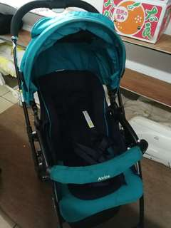Aprica baby stroller turquoise beautiful imported from Japan