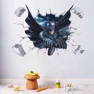 3D effect Batman wall Sticker Decal