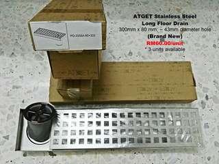 ATGET Stainless Steel Long Floor Drain
