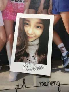 Apink Eunji Christmas Packages Special Polaroid/Photocard