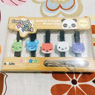 Animal wooden clips