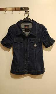 Petrol Short Sleeve Denim Jacket