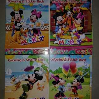 Mickey mouse sticker n colouring book