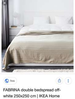 Ikea Fabrina Bedspread, Beige (250x250cm)