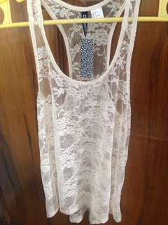 H & M summer/lace top