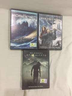 DVD Apocalypto, Van Helsing, Poseidon