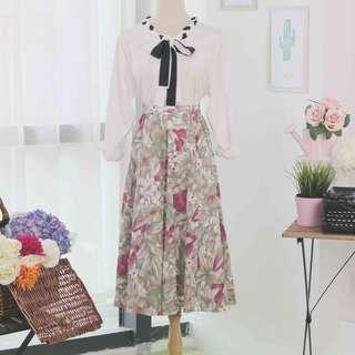 🍿 Vintage Midi Skirt VS1065
