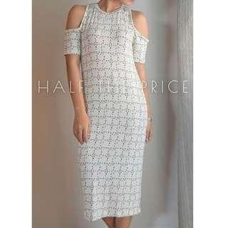 Cut off Shoulder dress