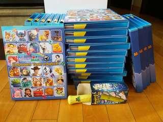 迪士尼美語世界 Dr. MAX Electronic English 廸士尼英語家庭版 英文練習 共24期  (1星1-10)用鉛筆做過, (1星11-12,2星1-12)未做過。  另加送3星1-4 未做過!!! 連電子筆