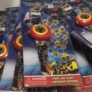Transformer cars paw patrol projection watch (in stock)