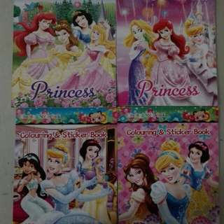 Disney Princess sticker n colouring book
