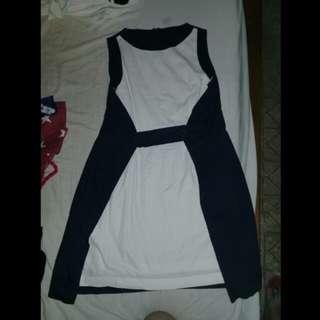 Freeway semiformal blue &white dress