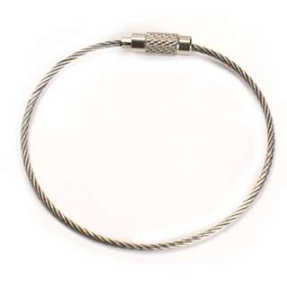 5 Stainless Steel Wire Keychain Cable Key Ring