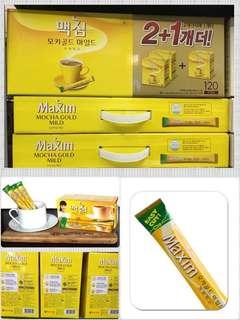 韓國maxim mocha 咖啡 120包
