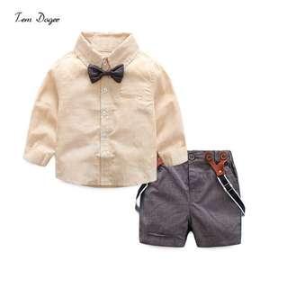Boys Long sleeve shirt and pants set