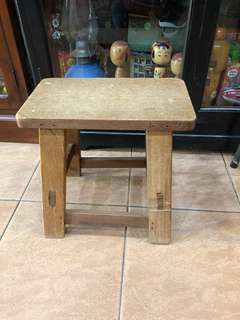Vintage wooden short stool