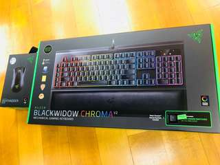 BlackWidow Chroma V2 green switch keyboard