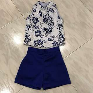 Pre-loved 2-piece Chinese style outfit