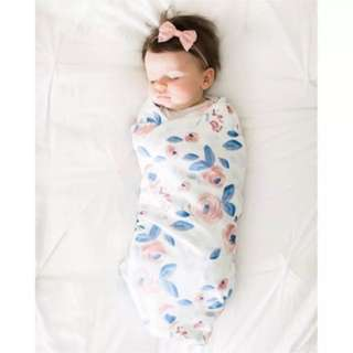 Baby Wrap Flower Design + Headband