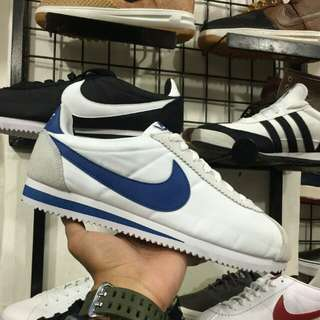 "NIKE CORTEZ CLASSIC NYLON ""WHITE BLUE"" ORIGINAL MADE IN INDONESIA"