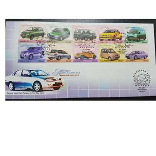 2001 Malaysia Stamps - Malaysia Made Vehicles Series II FDC