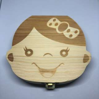 Baby Tooth Box / Baby Milk Teeth Storage Box - Girl