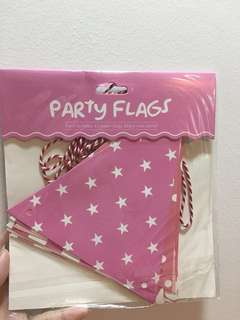 Party Flags ~ Pink