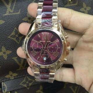 Michael Kors Bradshaw Rose Gold Red Chronograph MK6270 Women Watc