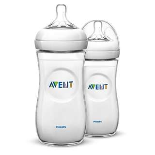 PRE-ORDER: Philips Avent Natural Baby Bottle, Clear, 11oz, 2pk