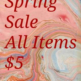 All items $5 will discount for Bundles!!
