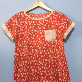 3/100rb baju Atasan orange