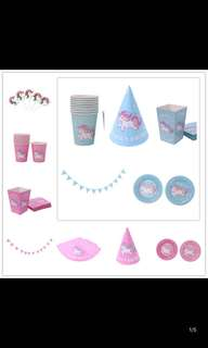 PO unicorn theme party items pm me for more details