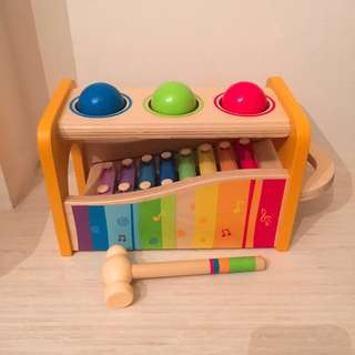 HAPE Wooden Toy/xylophone/Pound and Tap Bench