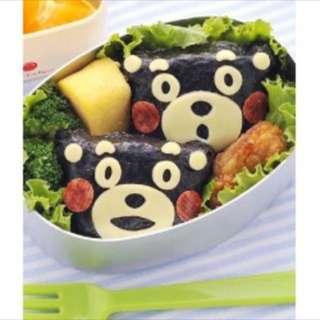 🚚 日本原裝進口正品 熊本熊飯糰模組 親子料理小物 kuma熊 kumamon