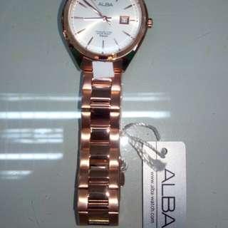 Alba ladies rosegold watch