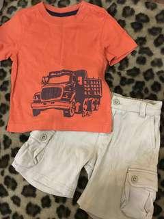 Ralph lauren shorts / Gap shirt