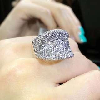 💎時尚設計款 食指👆鑽石戒指 1.6克拉 18k 14#  Diamond ring  Very nice design