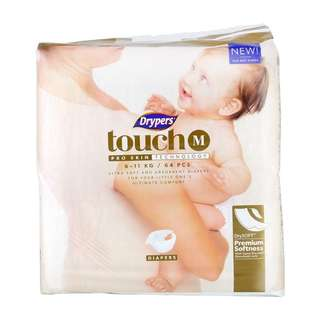 6 packets BN Drypers Touch Size M