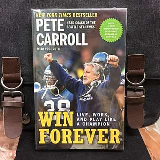 《Preloved Paperback + The Art of Leadership & Memoir Of Pete Carroll》Pete Cattoll & Yogi Roth - WIN FOREVER : Live, Work, And Play Like A Champion