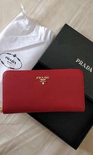 Prada zip-around Saffiano wallet